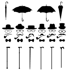 Gentleman icon set 2 vector image vector image