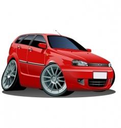 modern cartoon car vector image vector image