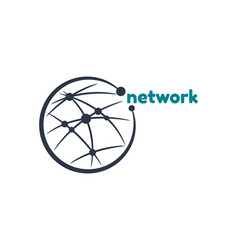 network connect logo template vector image vector image