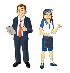 Restaurant managers vector