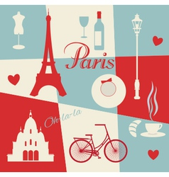 Retro style poster with Paris vector image vector image
