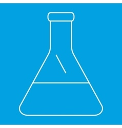 Conical flask thin line icon vector image