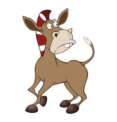 cute little burro cartoon vector image vector image
