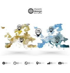 Europe map template triangle design infographics vector image