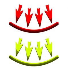 icons of arrows vector image vector image