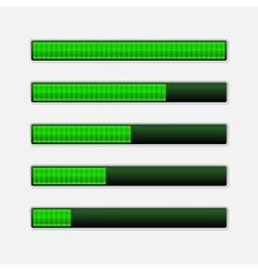 Set of Green Progress Bars Loading Bars vector image vector image