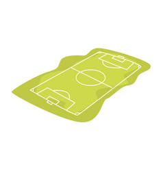 soccer or football field cartoon vector image