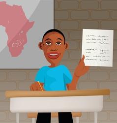 students school Africa vector image vector image