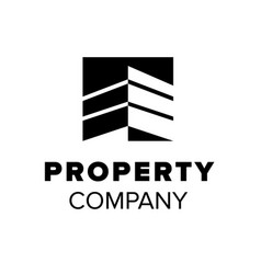 housing logo property symbol abstract building vector image