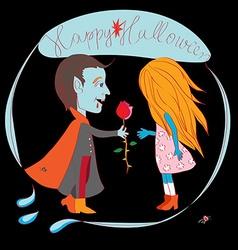 romantic halloween vector image vector image