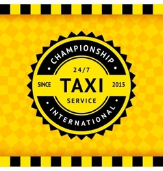 Taxi symbol with checkered background - 15 vector image vector image