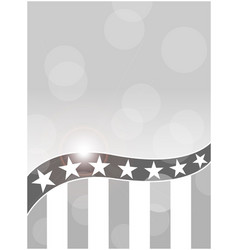 Abstract american flag black-white background vector