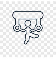 acrobat man concept linear icon isolated on vector image