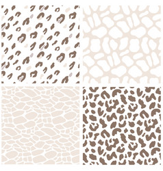 animal print seamless pattern leopard texture vector image