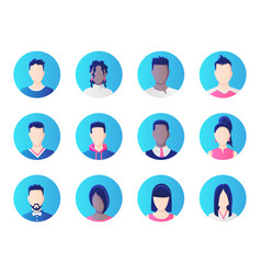 avatar set group working people diversity vector image
