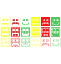 Basic Smilies Symbols Patchwork of Color Dots vector