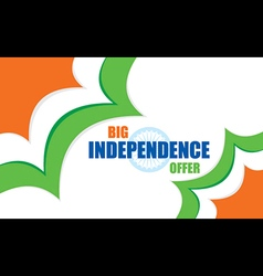 big independence day offer banner design vector image