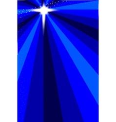 Blue Christmas Star vector