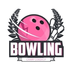 Bowling logo design template emblem tournament vector image