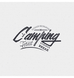Camping sign handmade differences made using vector