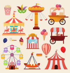 Carnival fun fair design elements vector