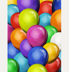 Carnival party balloons background vector
