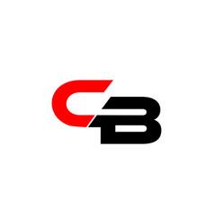 cb letter logo vector image