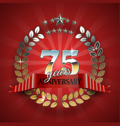 Celebrative Golden Frame for 75th Anniversary vector image
