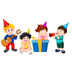 children birthday party vector image