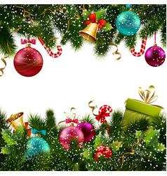Christmas decoration border vector