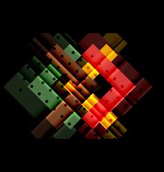 color arrows on black background vector image