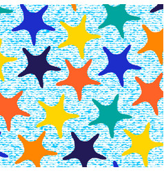 colorful starfish pattern with stripes vector image
