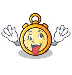 Crazy chronometer character cartoon style vector