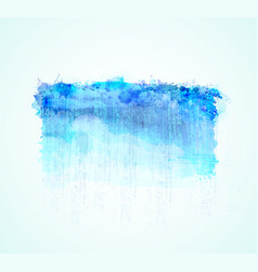 cyan and blue watercolor stains bright color vector image