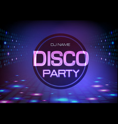 disco abstract background neon sign party vector image