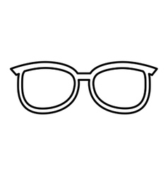 Eye glass fashion isolated icon vector
