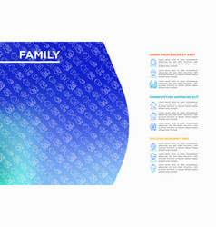 Family concept with thin line icons vector