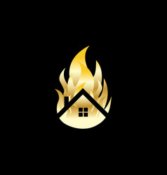 fire house image vector image