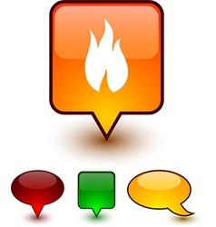 Fire speech comic icons vector