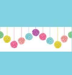 fun set of hanging pastel colorful birthday vector image