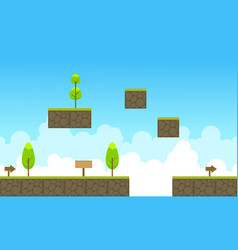 Game background of sky landscape style vector