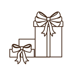 gifts boxs isolated icon vector image