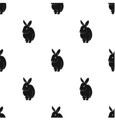 Gray rabbitanimals single icon in black style vector