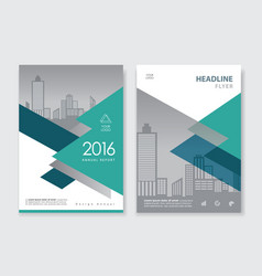 green annual report flyer brochure leaflet book vector image