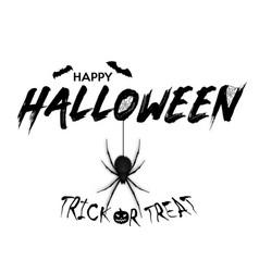 Halloween party design template with pumpkin vector