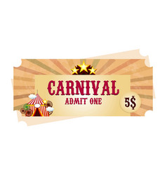 Happy brazilian carnival day carnival circus vector