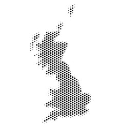 honeycomb great britain map vector image
