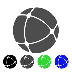 internet sphere flat icon vector image