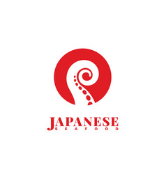 Japanese seafood logo vector