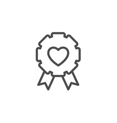 love badge line outline icon vector image
